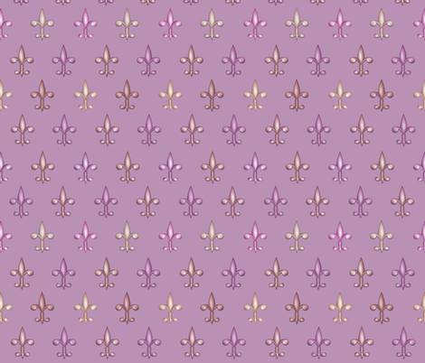 ©2011 fleurdelis 211 fabric by glimmericks on Spoonflower - custom fabric