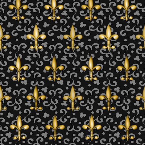©2011 fleurdelis 220 fabric by glimmericks on Spoonflower - custom fabric
