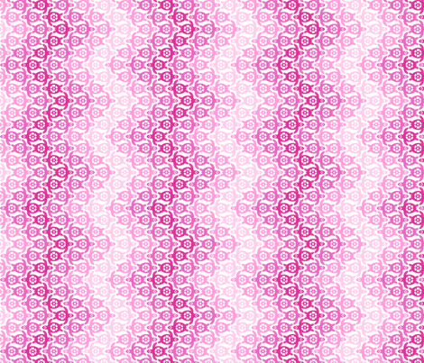 Turtles in Pinks - Small Scale Chevron