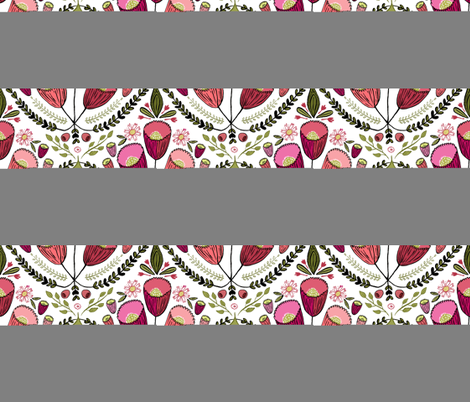 Rococo Flowers fabric by kristinnohe on Spoonflower - custom fabric