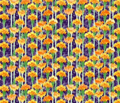 ©2011 marigolds and moonbeams fabric by glimmericks on Spoonflower - custom fabric