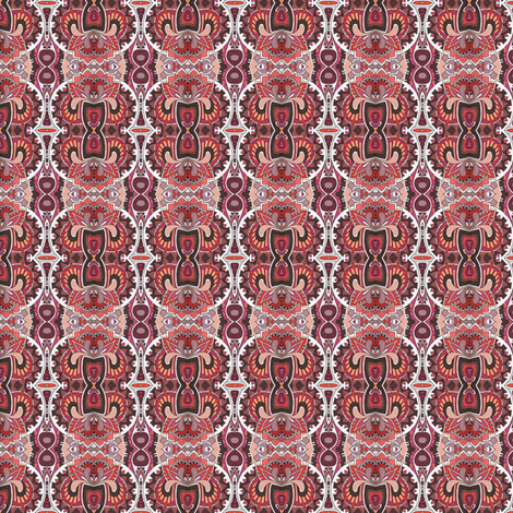 The Roaring Twenties in red fabric by edsel2084 on Spoonflower - custom fabric