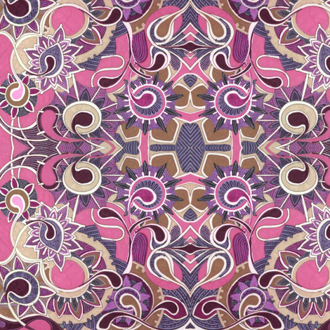 Weeds from Mars (magenta) fabric by edsel2084 on Spoonflower - custom fabric