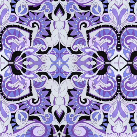 Purple Hideaway fabric by edsel2084 on Spoonflower - custom fabric