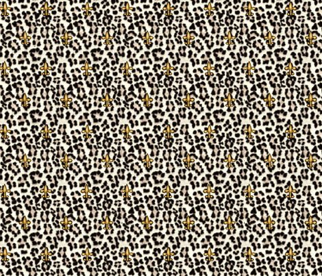 ©2011 royal snow leopard and fleur de lis fabric by glimmericks on Spoonflower - custom fabric