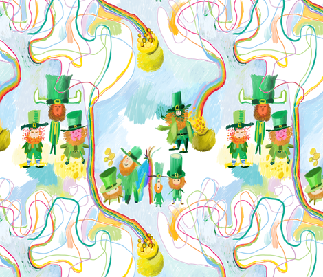 Leprechauns fabric by pixo on Spoonflower - custom fabric