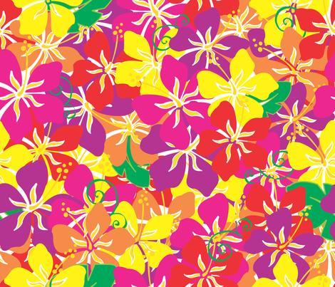 Hawaiian_Hibiscus fabric by illustrative_images on Spoonflower - custom fabric