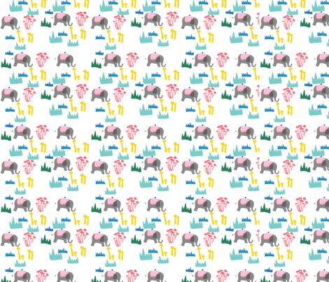 elephant fabric by tamptation on Spoonflower - custom fabric