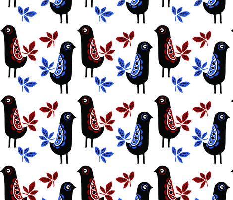 LoveBirds (large) fabric by corinnevail on Spoonflower - custom fabric