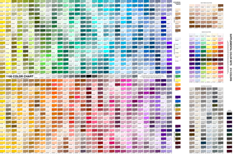Practical 1100 Color Chart with supplemental color sets ©2012 by Jane Walker fabric by artbyjanewalker on Spoonflower - custom fabric