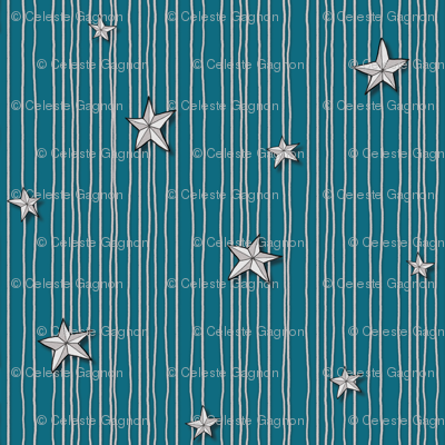 Paper Stars Teal