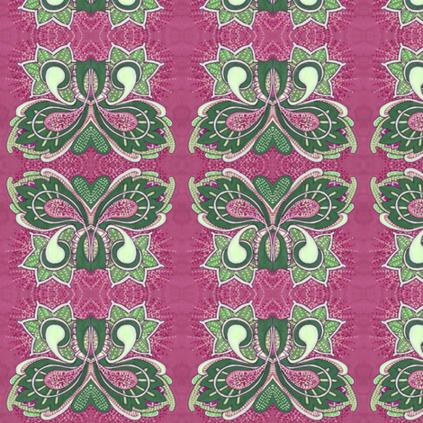 Flutterby Butterfy in magenta fabric by edsel2084 on Spoonflower - custom fabric