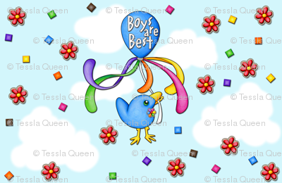 Welcome Baby Bird - Boys are Best