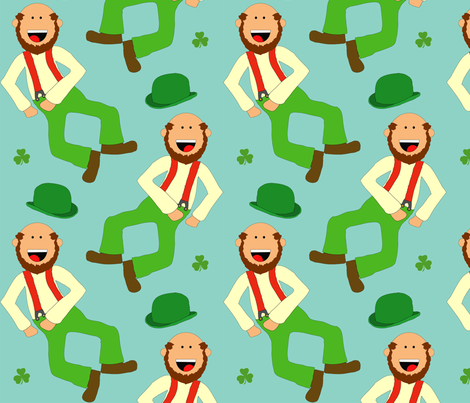 Leapin' Leprechauns fabric by beingreen on Spoonflower - custom fabric