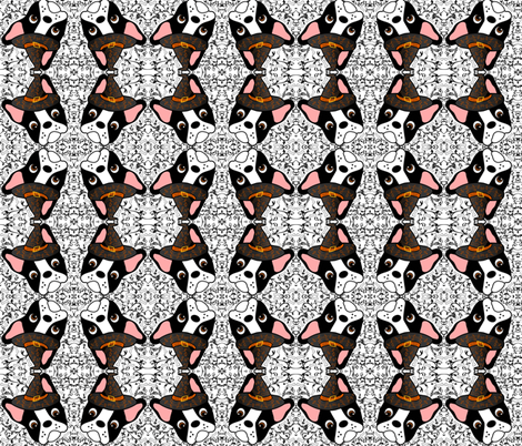 Witchypup the Boston Terrier fabric by missyq on Spoonflower - custom fabric
