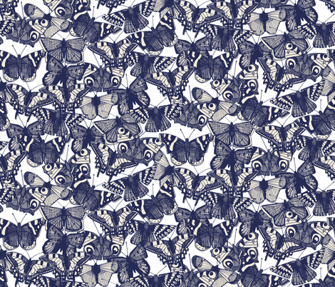butterfly white fabric by scrummy on Spoonflower - custom fabric