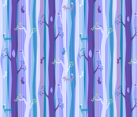 Purple Woodland Stripe fabric by acbeilke on Spoonflower - custom fabric