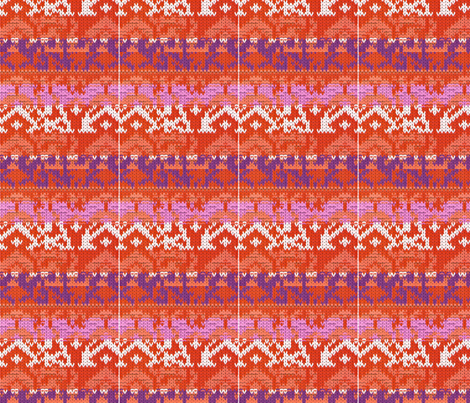 URBAN 70'S KNIT PRINT fabric by rke on Spoonflower - custom fabric