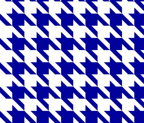 Bold Blue Large Houndstooth Fabric Fabricpaperglue
