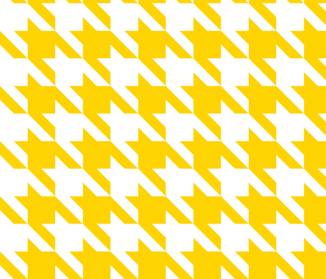 Bold Yellow Large Houndstooth Fabric Fabricpaperglue