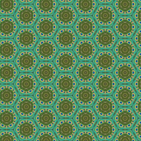 Peacock Feathers fabric by captiveinflorida on Spoonflower - custom fabric