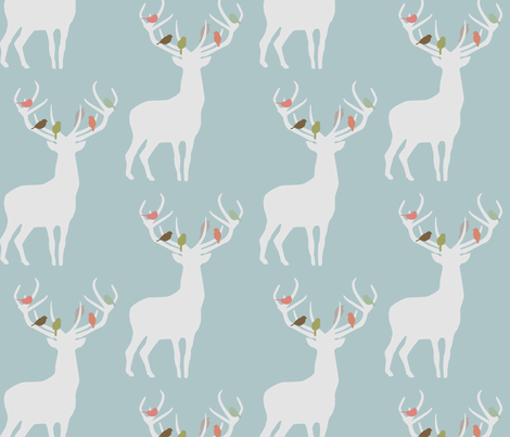 not_alone_winter_spoonflower fabric by troismiettes on Spoonflower - custom fabric