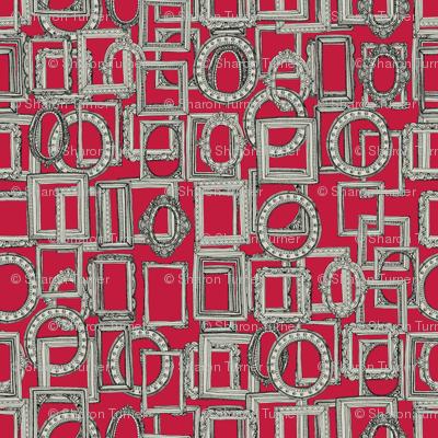 picture frames aplenty bone red