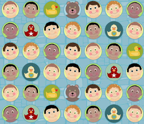 baba baby boy mosaic fabric by scrummy on Spoonflower - custom fabric