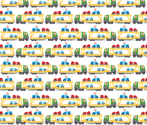 Car-truck fabric by verycherry on Spoonflower - custom fabric