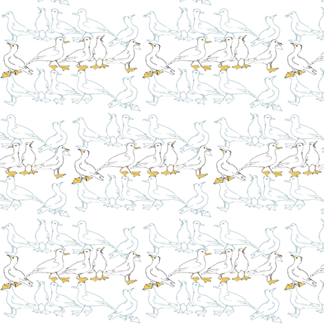 Seagulls fabric by woodle_doo on Spoonflower - custom fabric