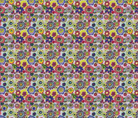 Bonkers Flowers fabric by woodledoo on Spoonflower - custom fabric