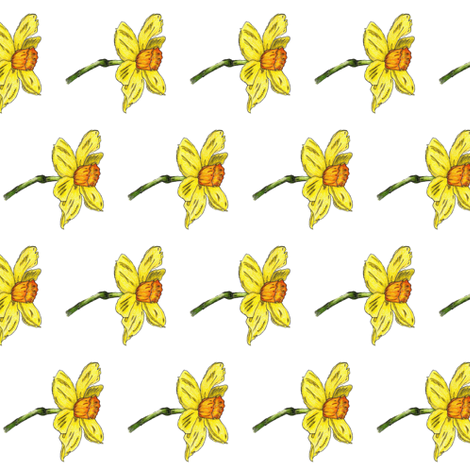Daffodil fabric by ccreechstudio on Spoonflower - custom fabric