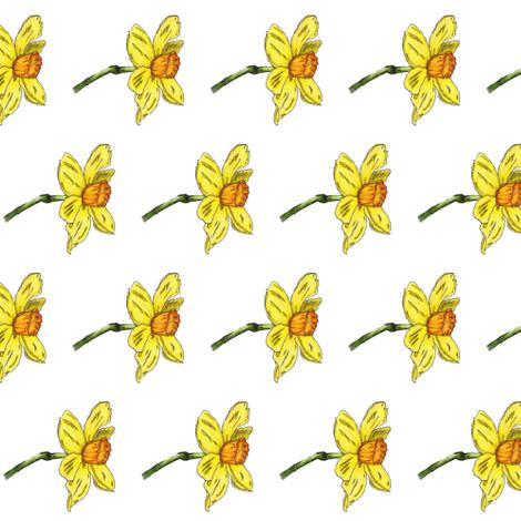 Daffodil fabric by ccreechstudio on Spoonflower - custom fabric