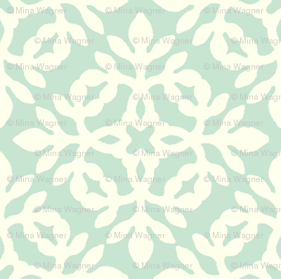 LIGHT GREEN & cream mini-papercut2