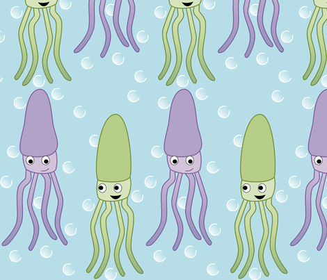 Squid Row fabric by lowa84 on Spoonflower - custom fabric