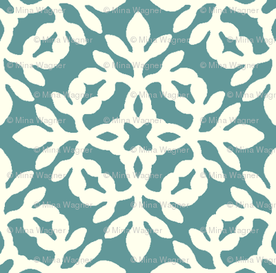 BLUE-GREEN & cream mini-papercut2