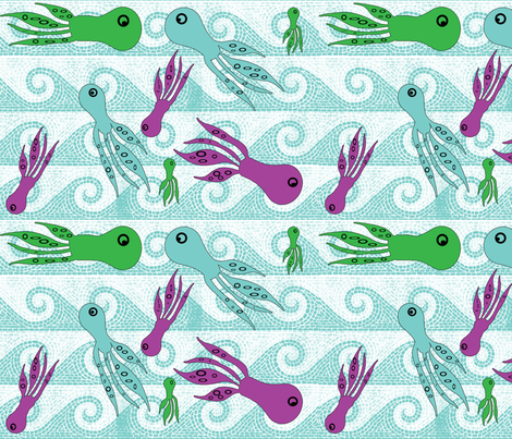 squiddin__around fabric by snork on Spoonflower - custom fabric