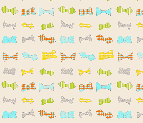 Bowties fabric by craftinmechanic on Spoonflower - custom fabric