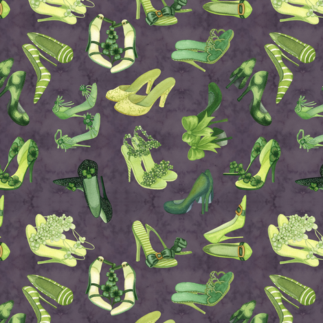 Leprechaun_Shoes_Purple fabric by nicoletamarin on Spoonflower - custom fabric