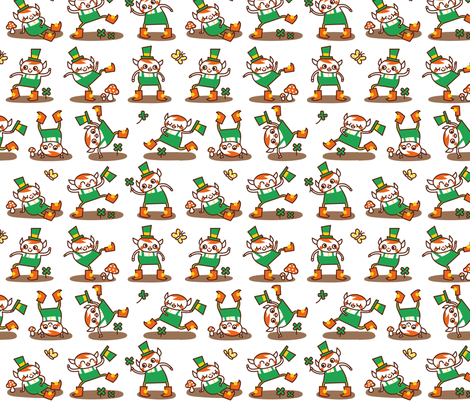 Dancing Leprechauns fabric by katiavial on Spoonflower - custom fabric