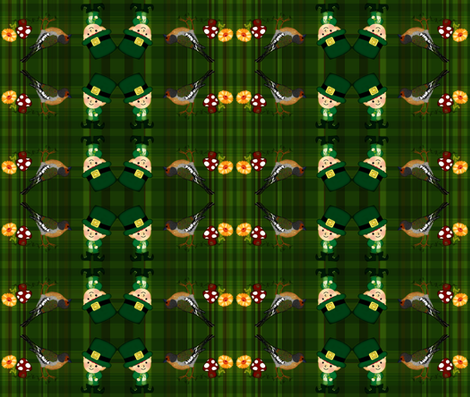 luck of the irish / plaid fabric by paragonstudios on Spoonflower - custom fabric