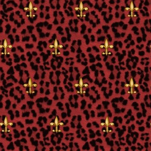 ©2011 royal leopard and fleur de lis - red