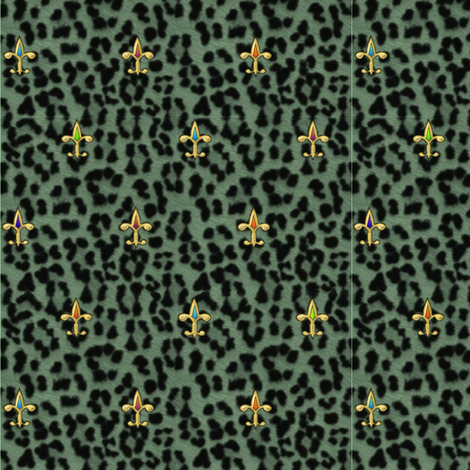 ©2011 jewelled leopard fabric by glimmericks on Spoonflower - custom fabric