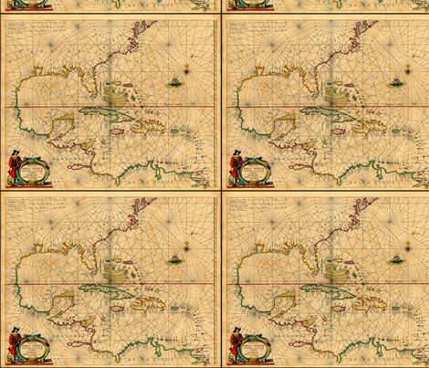 Map of Rome fabric by lacecrow on Spoonflower - custom fabric
