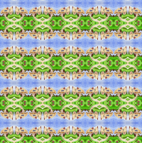 Toadstool Village fabric by lil_bit_brit on Spoonflower - custom fabric