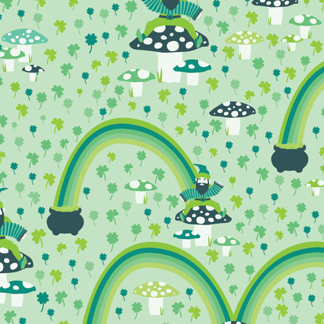 Lucky Leprechauns fabric by mandakay on Spoonflower - custom fabric