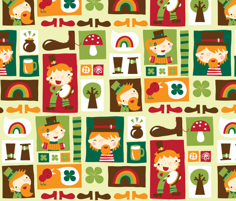 Leprechaun fun! fabric by bora on Spoonflower - custom fabric