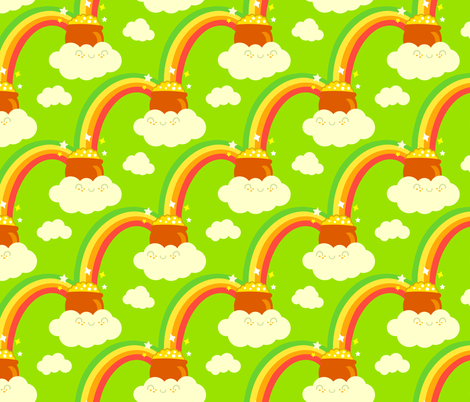 At the end of the rainbow you will find... fabric by irrimiri on Spoonflower - custom fabric
