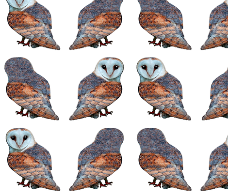 Little Owls fabric by nezumiworld on Spoonflower - custom fabric