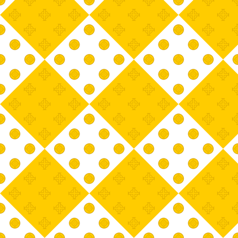 celtlep harlequin gold fabric by sef on Spoonflower - custom fabric